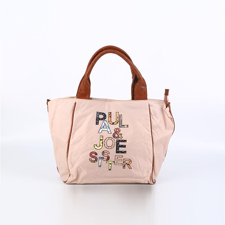 Fashion and elegant nylon tote bags women nylon handbag