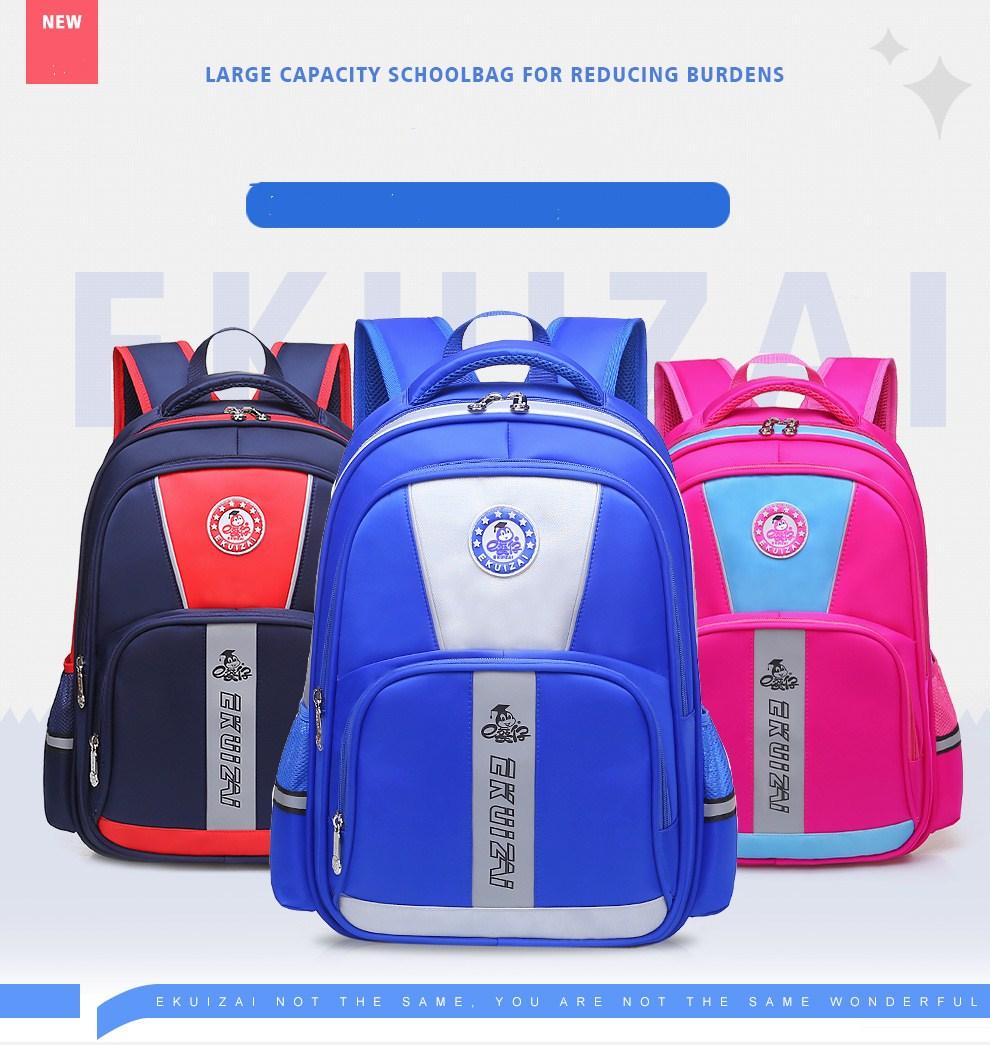 Hot selling New style high quality Grade 1-6 girls boys waterproof school backpa
