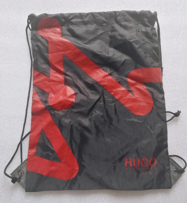 Promotional drawstring bag with custom printing and logo