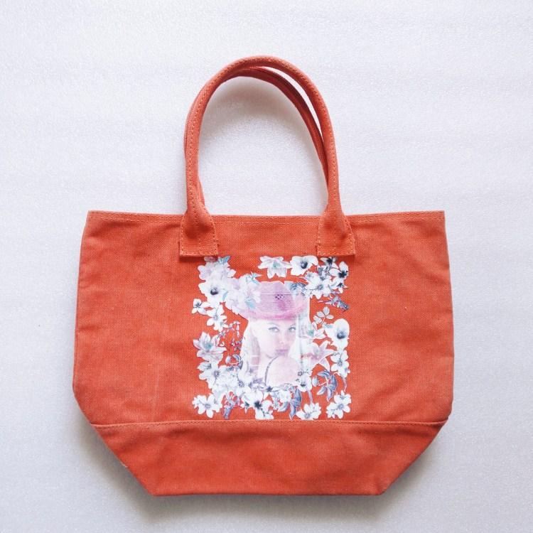 custom printed women canvas handbag tote,RB1031