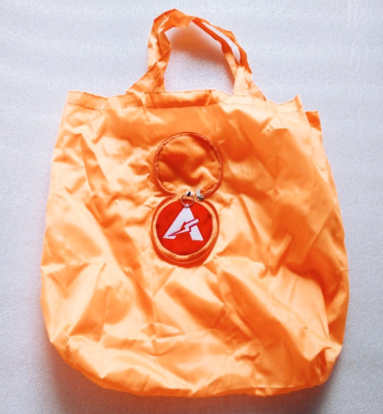 foldable polyester promotional tote shopping bag