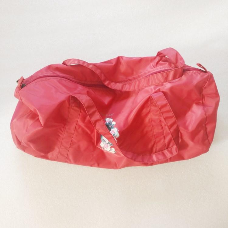 Red Waterproof super light nylon travel bag-RB785