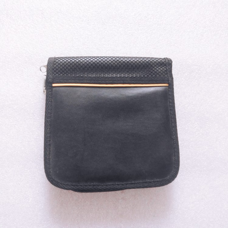Zipper Closure Black product packaging case pouch -RB782