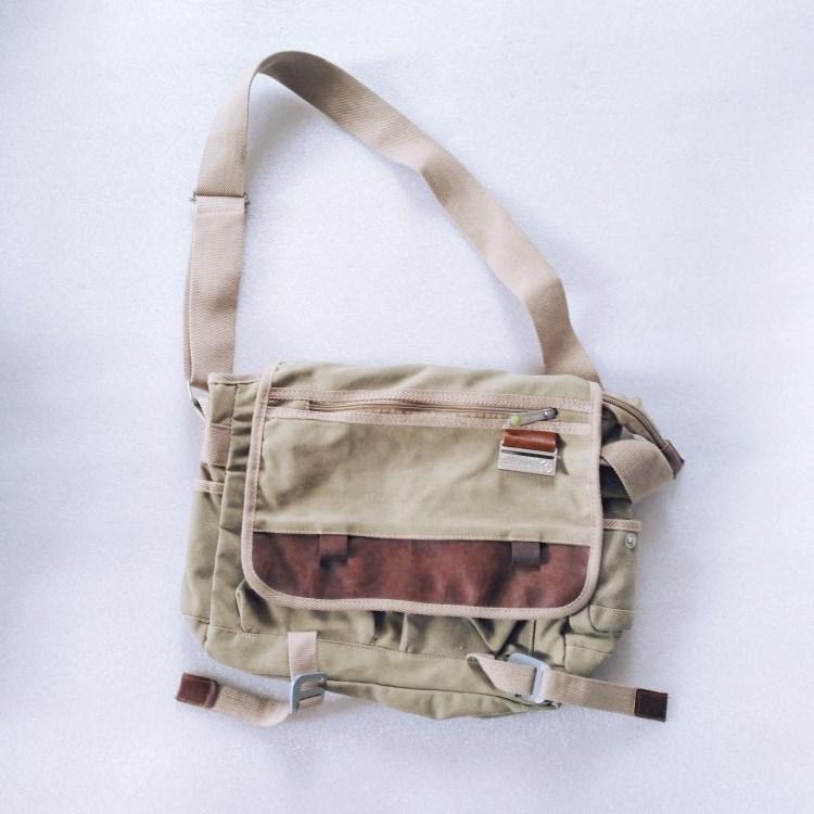 Men canvas messenger shoulder bag-RB536