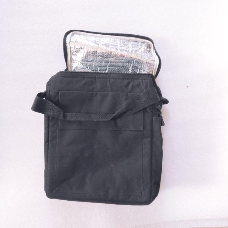 600D black cooler bag with handle and  shoulder strap-RB537