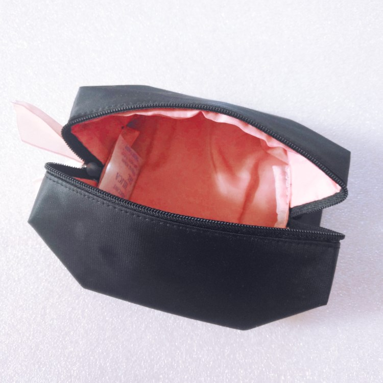 Nylon cosmetic bag  with satin  puller-RB410