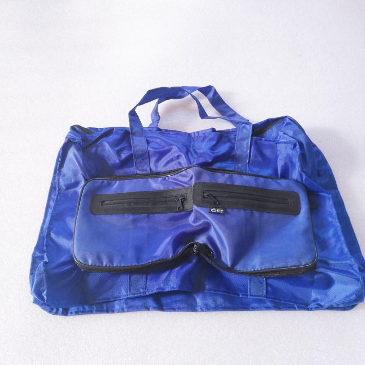 Foldable shopping bag with zipper pouch-RB429
